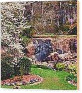 Rock Quarry Garden Wood Print