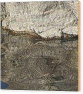 Rock Reflection Wood Print