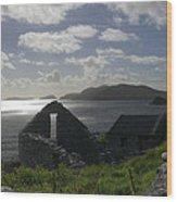 Rock Ruin By The Ocean - Ireland Wood Print