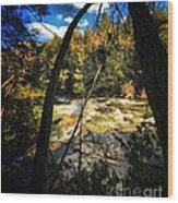 Rock Slide Wood Print