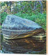 Rock Stripes Wood Print
