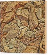 Rock Texture Wood Print