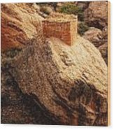 Rock Tower Wood Print