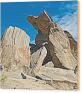 Rock Uplifts In Andreas Canyon In Indian Canyons-ca Wood Print