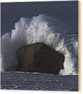 Rock V Wave II Wood Print
