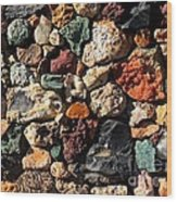 Rock Wall Wood Print