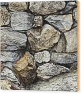 Rock Wall  Wood Print by Les Cunliffe
