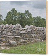 Rock Wall Steps Wood Print by Kay Pickens