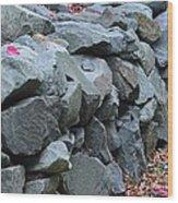Rock Walls Wood Print