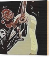 Rockabilly Electric Guitar Player  Wood Print by Tommytechno Sweden