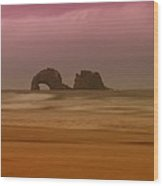 Rockaway Beach Oregon Coast Wood Print