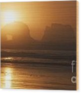 Rockaway Beach Wood Print