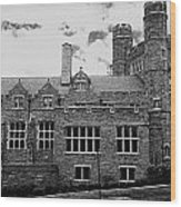 Rockefeller Hall - Bryn Mawr In Black And White Wood Print