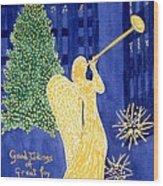 Rockefeller Angel Wood Print