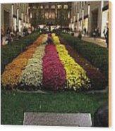 Rockefeller Center In Autumn Wood Print