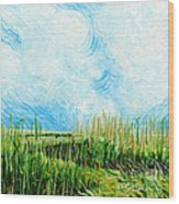 Rockefeller Coastal Marsh Louisiana  Wood Print