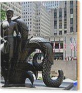 Rockefeller Plaza II Wood Print
