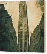 Rockefeller Tower Wood Print