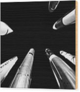 Rocket Launch Wood Print