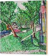 Rocket Slide Wood Print by Jame Hayes