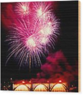 Rockets Red Glare Wood Print