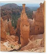 Rockformation  Bryce Canyon Wood Print
