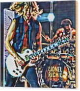 Rockin Guitarist Wood Print