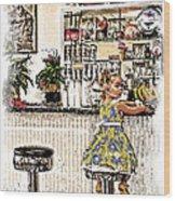 Rockin Robin's Soda Shop Wood Print