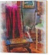 Rocking Chair Photo Art Wood Print