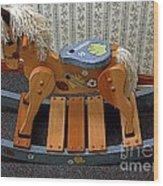 Rocking Horse Wood Print
