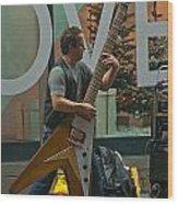 Rocking Times Square Wood Print
