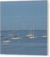 Rockland Breakwater Lighthouse After Dark Coast Of Maine Wood Print