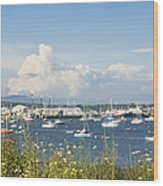 Rockland Harbor On The Coast Of Maine Wood Print by Keith Webber Jr