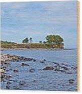 Rockland Maine Coastline Wood Print