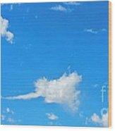 Rock'n  Roll Cloud'z Wood Print
