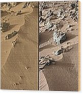 Rocknest Site, Mars, Curiosity Images Wood Print