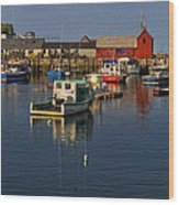 Rockport Harbor No.2 Wood Print