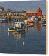 Rockport Harbor No.3 Wood Print