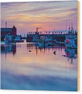 Rockport Harbor Sunrise Over Motif #1 Wood Print