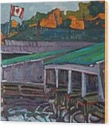Rockport Roofs Wood Print