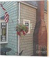 Rockport Streetscape Wood Print