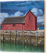 Rockports Motif Number 1 Painting Wood Print