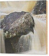 Rocks And Rapids #2 Wood Print