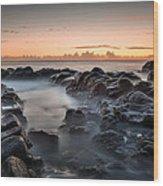 Rocks And Waves #7 Wood Print