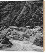 Rocks At Pt. Lobos Wood Print