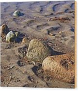 Rocks In A Row Wood Print