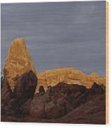 Rocks In Arches National Park Wood Print