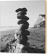 Rocks In Balance Wood Print