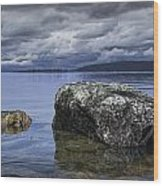 Rocks In The Water On A Lake In Acadia National Park Wood Print