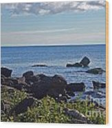 Rocks Of Lake Superior Wood Print